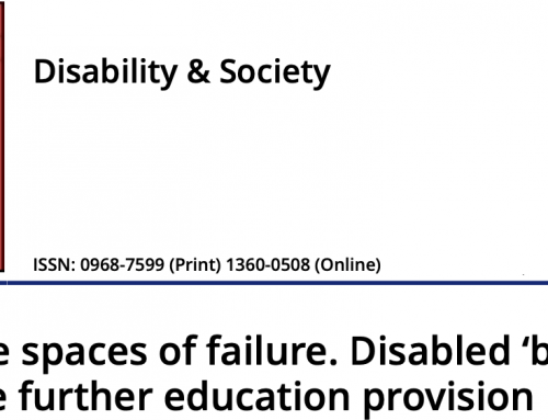 Alternative spaces of failure. Disabled 'bad boys' in alternative further education provision