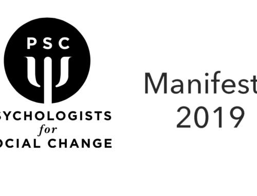 Psychologists for Social Change Manifesto 2019