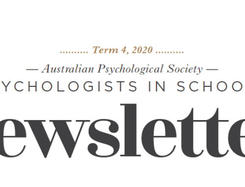 APS Psychologists in Schools Newsletter Term 4, 2020