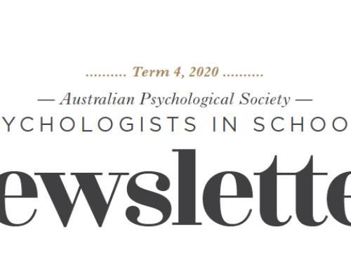 APS Psychologists in Schools Newsletter Term 4, 2020