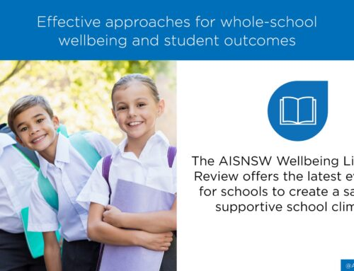 Wellbeing literature review from AISNSW